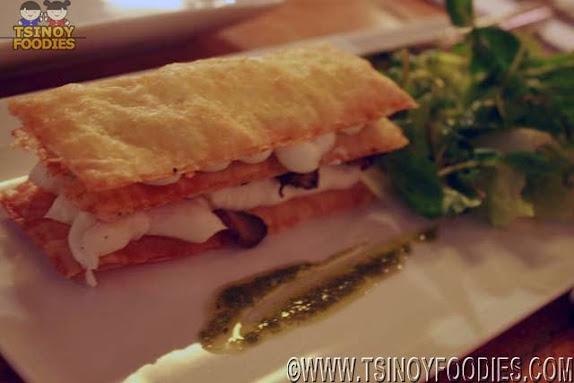 portobello mushroom asparagus goat cheese mille feiulle