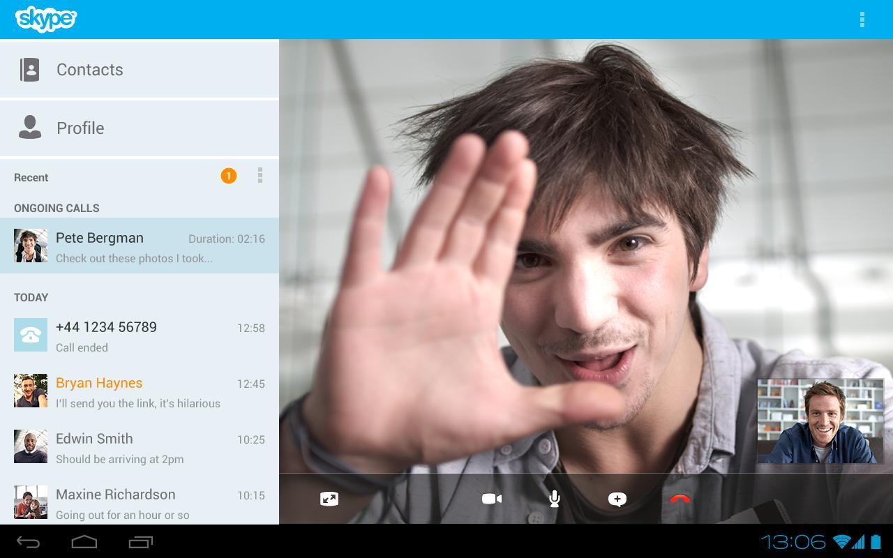 تطبيق Skype - free IM & video calls v4.0.0.22082 للمحادثة عبر الفيديو والرسائل واكثر