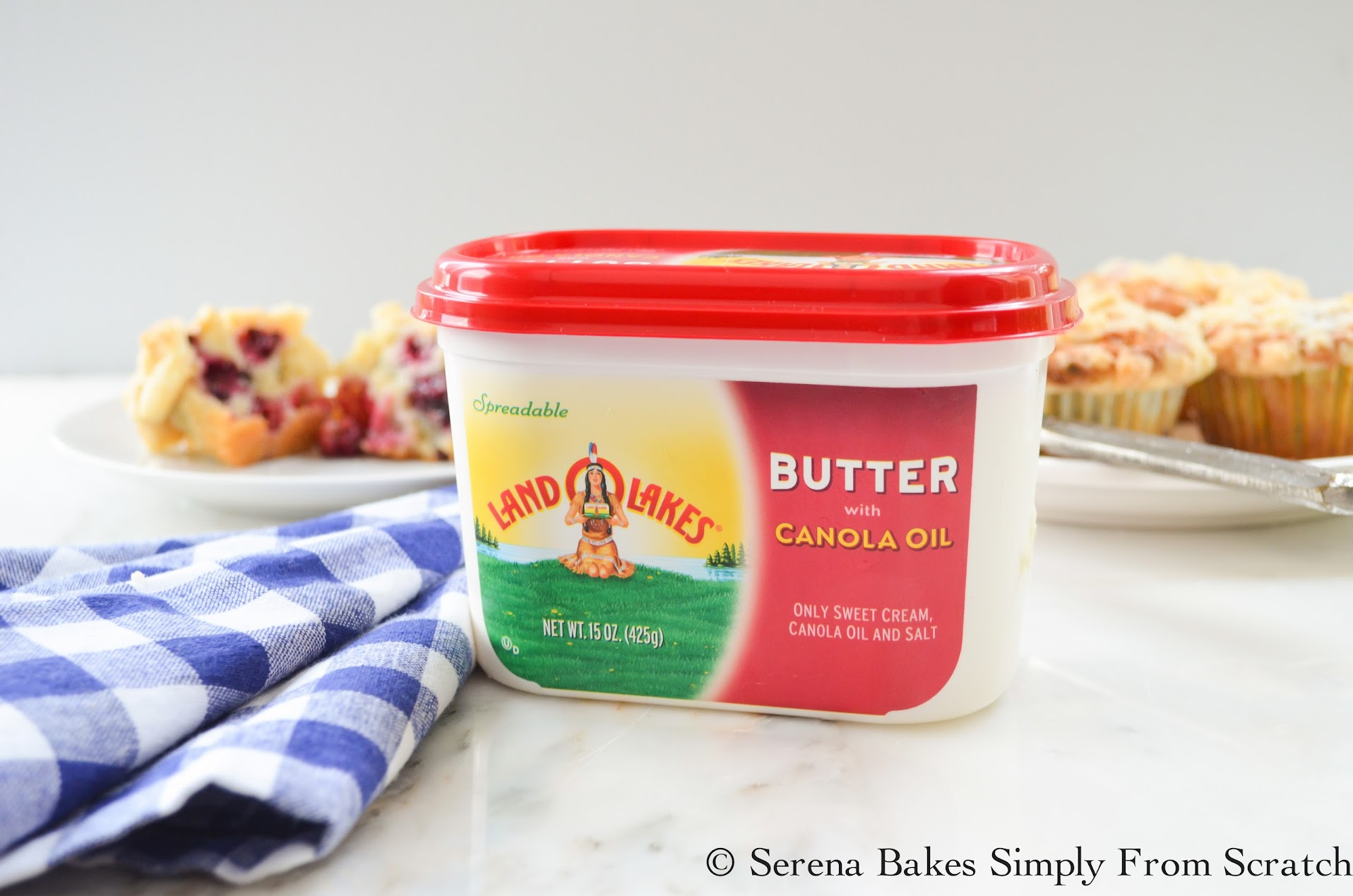 LAND O LAKES Butter with Canola Oil and Blackberry Muffins