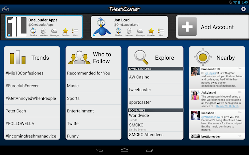 TweetCaster Pro for Twitter v7.7