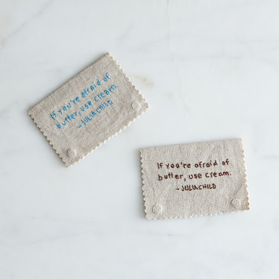 Magnetic Hand-Embroidered Julia Child Bookmark | Provisions by Food52