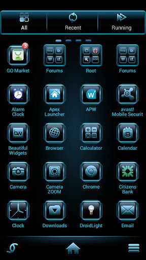 Vaporize Theme Go Launcher android themes