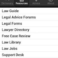 Law Guide App for Smartphones.