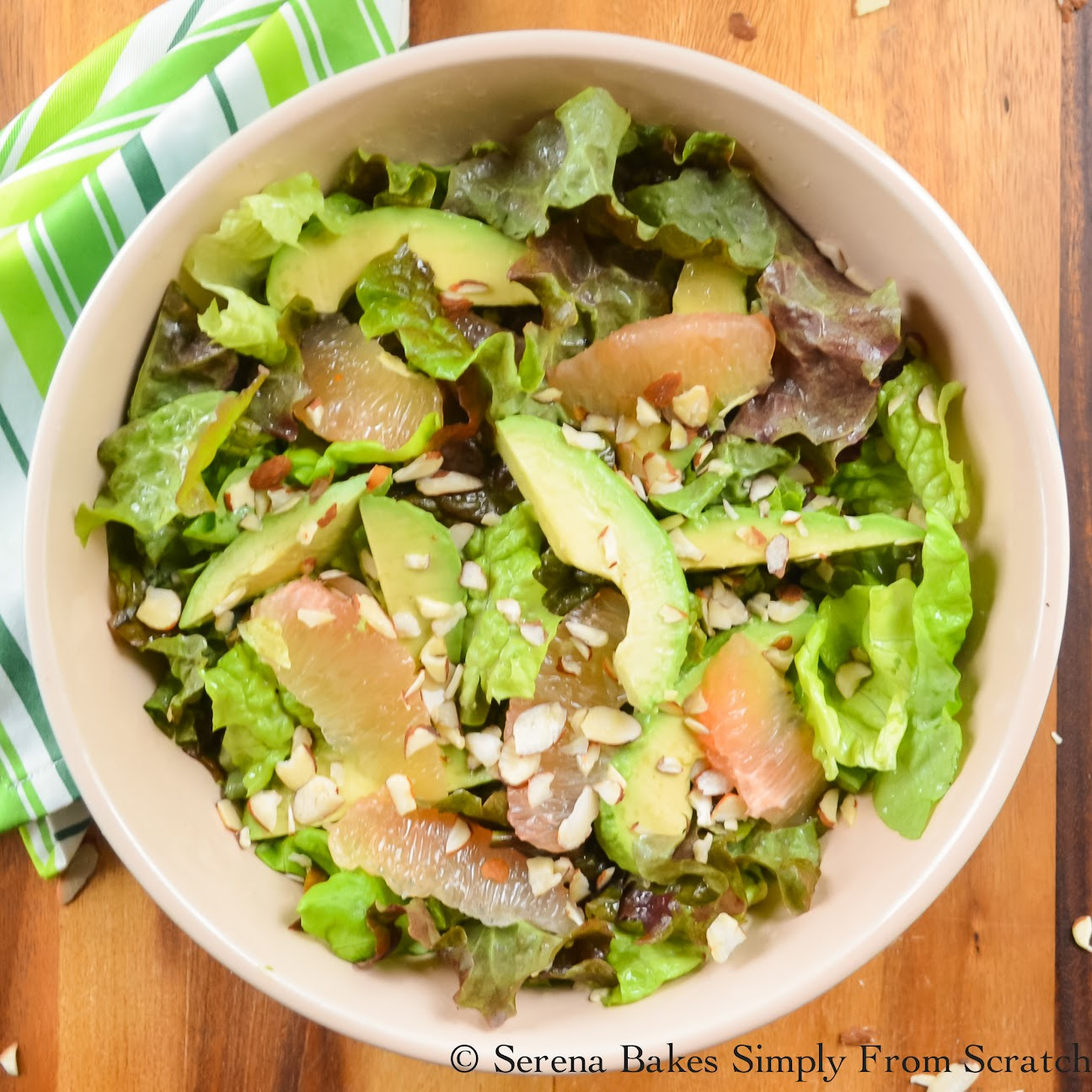 Grapefruit Avocado Salad With Grapefruit Vinaigrette