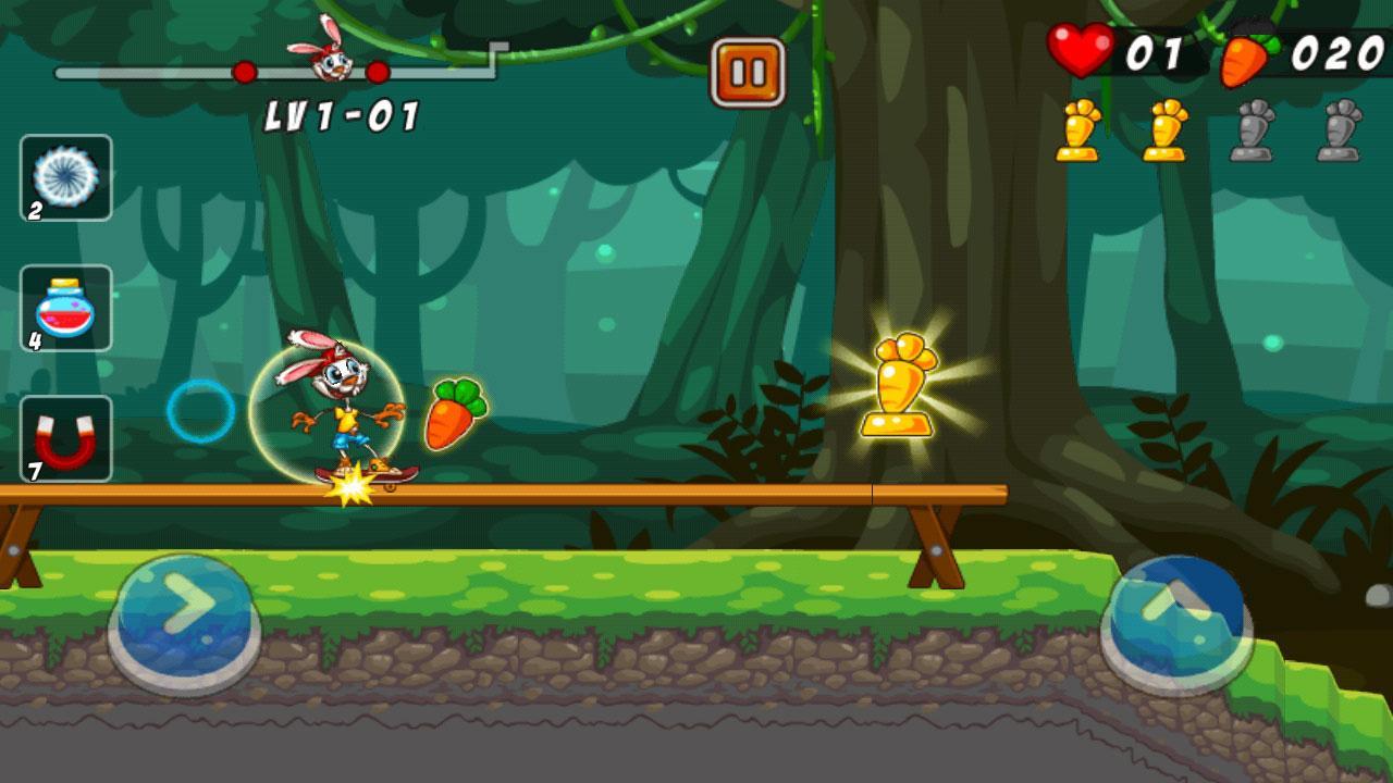 لعبة Bunny Skater v1.4 بأصدارها الجديد apk