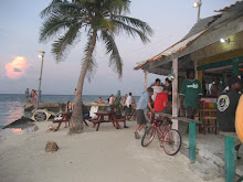 Beachbar in Caye Culker