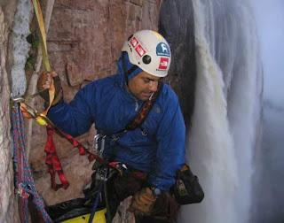 Luis Eduardo on Angel Falls, Venezuela