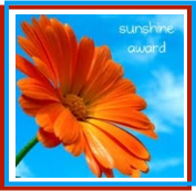 Sunshine award from Mary