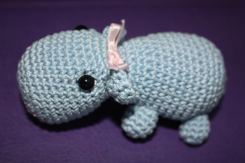 Amigurumi Hippopotamus : Artefleur: Amigurumi HIPPO-heegeldatud j?ehobu