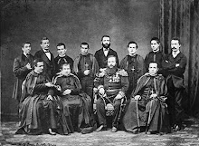 Don Bosco with the first group of Salesian Missionaries