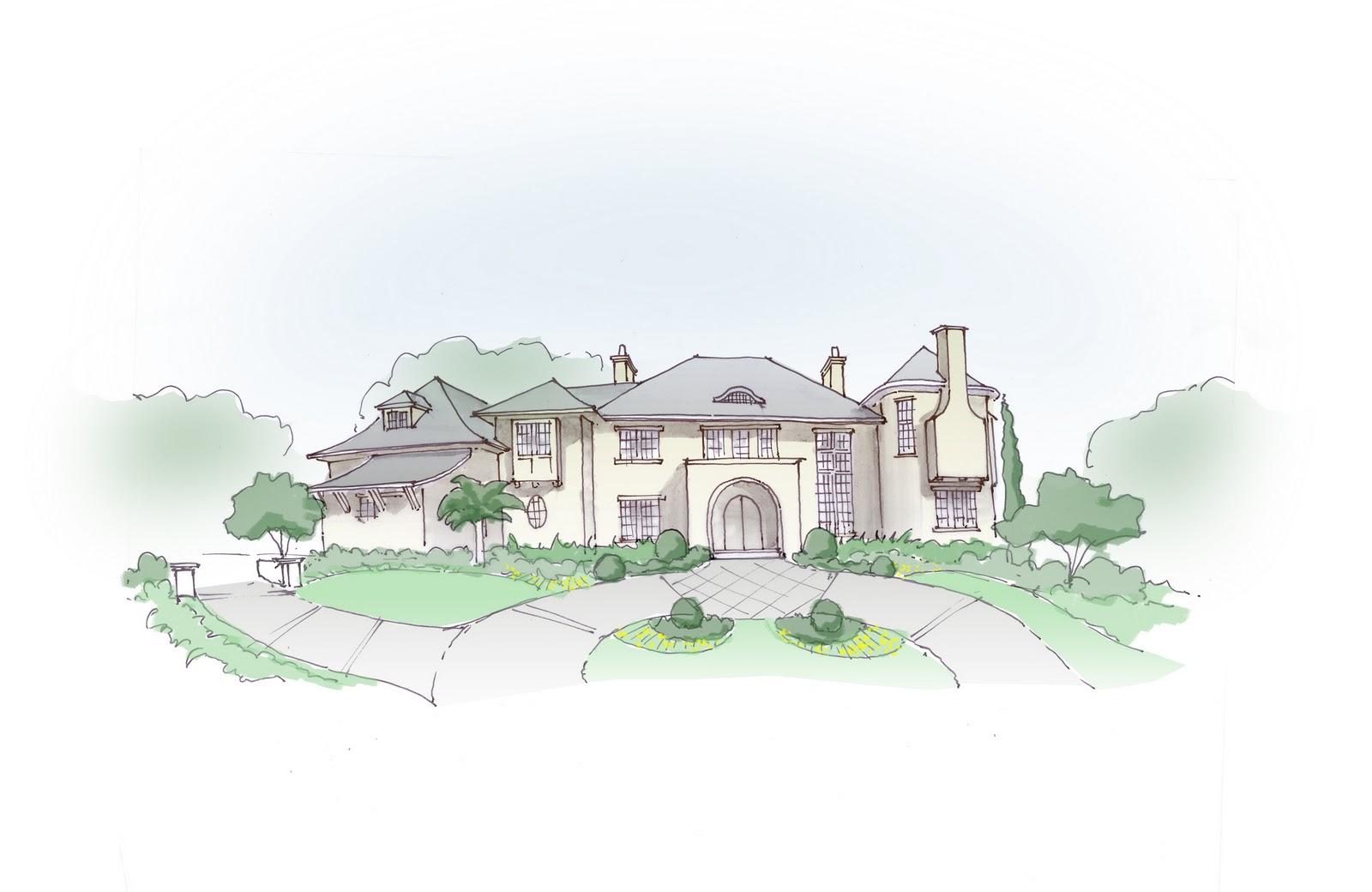 Conceptual Landscape Elevation For Dr Mrs Sanjay Gupta Pen