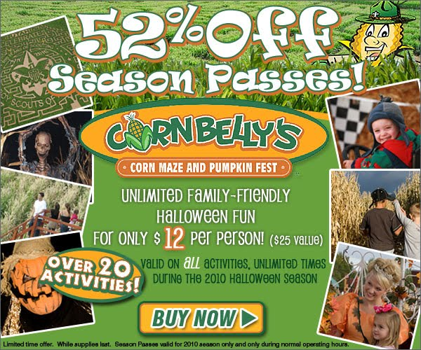 Cornbelly's corn maze coupons 2018
