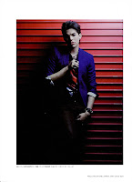 Adam Lambert Japanese Rolling Stone photo red garage door