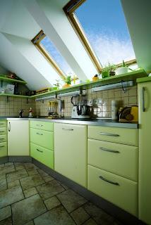 Kitchen monochromatic painting