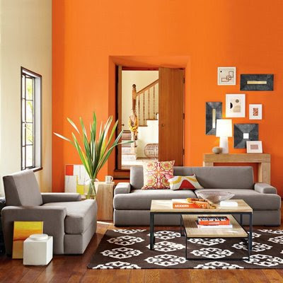 Living Room Decoration on Interior Design Photos  Orange Living Room Decor Idea