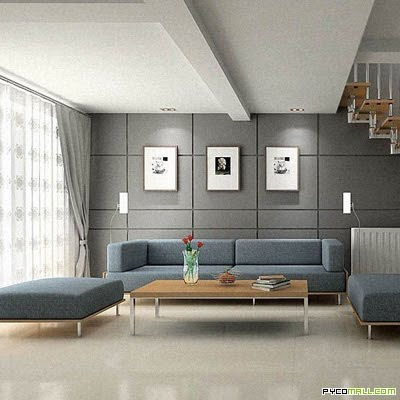 Modern Living Ideas on Interior Design Photos  Modern Living Room Grey Designs