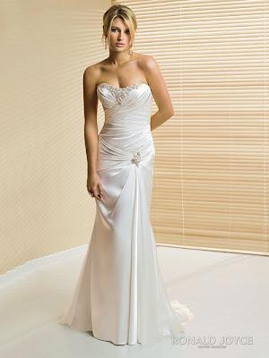 Soft Satin Wedding Dress