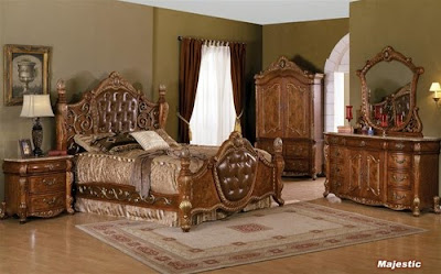 Interior Design Ideas: Solid Wood Traditional Bedroom Design