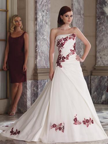 Flower Floral Wedding Gowns : The trend wedding dresses ribbon flowers strapless