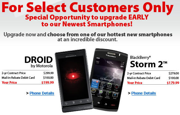 Verizon Giving Early Upgrades to Select Customers