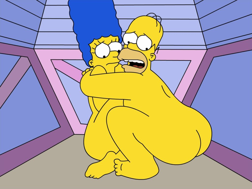 Naked Marge And Homer