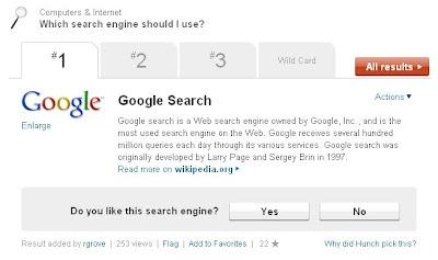 Hunch says Google