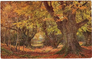 Vintage Autumn Images Postcards