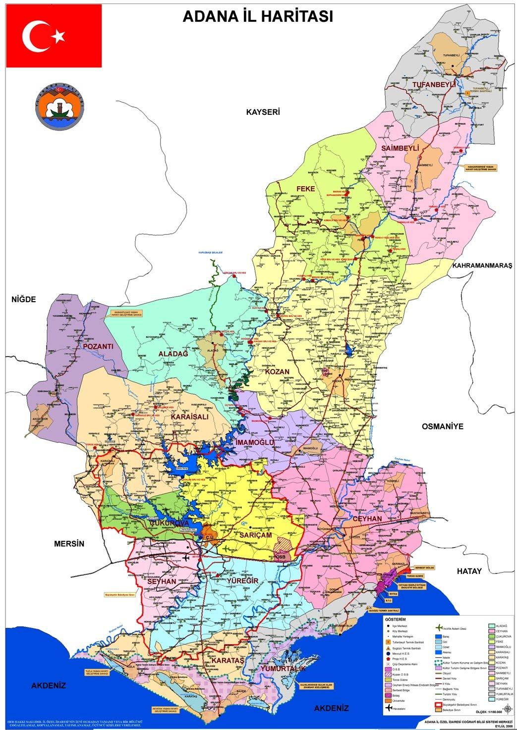 About Turkey Cities Adana Maps