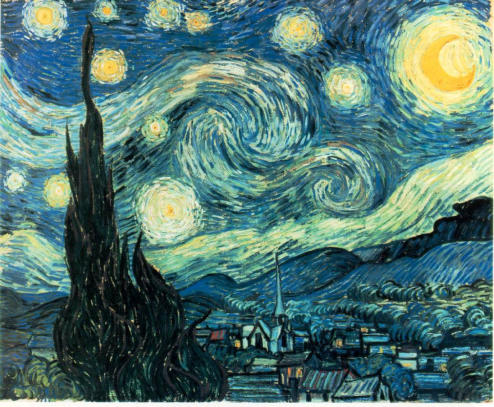 Starry Night (1881) -- Van Gogh