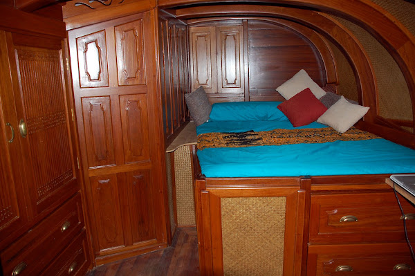 Interior of skippers cabin :
