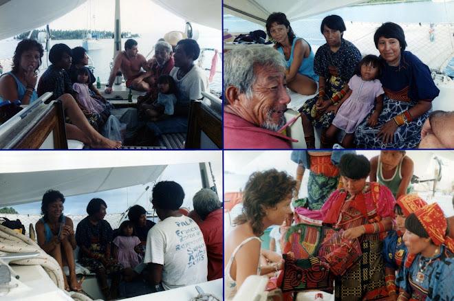 Les indiens Kunas à bord de Tikaï
