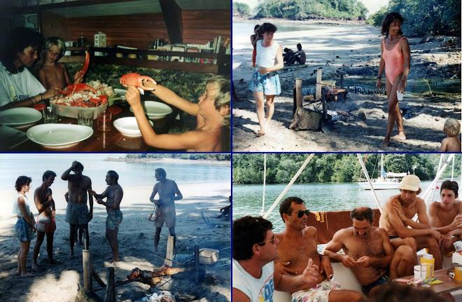 Repas à bord de nos voiliers ou sur la plage