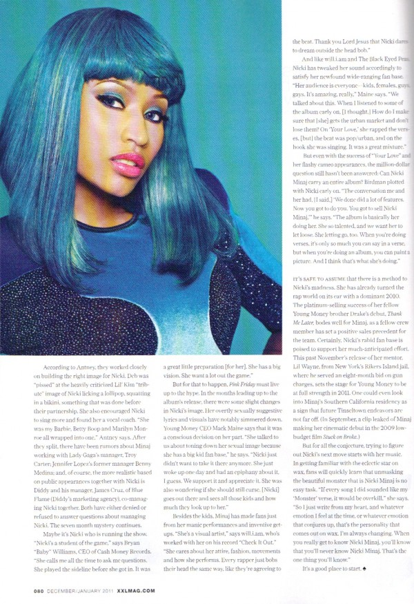 Nicki Minaj In XXL Magazine Jan 2011