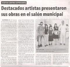 Descatados artistas presentaron sus obras en el salón municipal