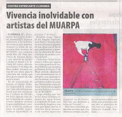 Vivencia inolvidable con artistas de MUARPA