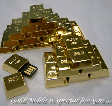 24K Gold-Plated USB Drive From Gold Noble