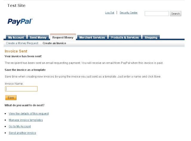 Paypal Invoicing - Send Invoice