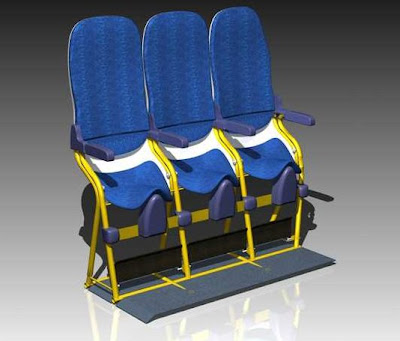 "New Airplane Seat Design ""SkyRider"", Helps Low Cost Airlines To Fly More People"