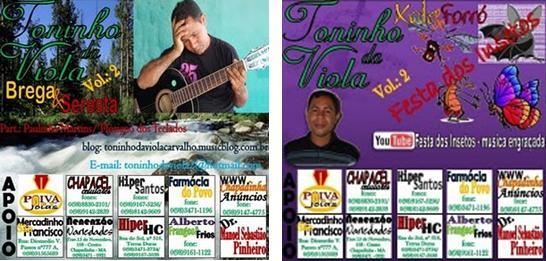 Já está à venda os dois CDs de TONINHO DA VIOLA vol. 2 !! contato:(98) 9127-6538