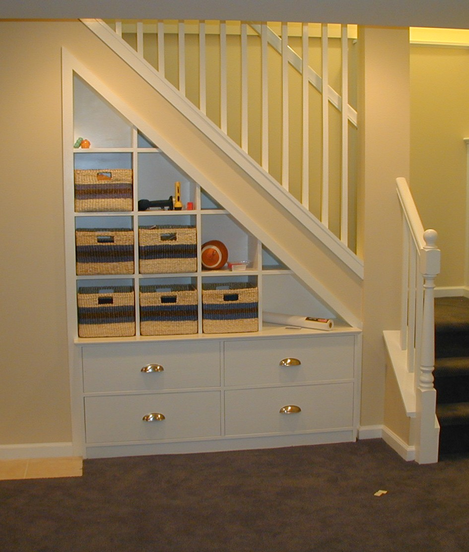 Stair Storage Shelf : Built-in Cabinetry for your Home