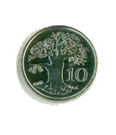 Дерево Баобаб на монете Зимбабве
