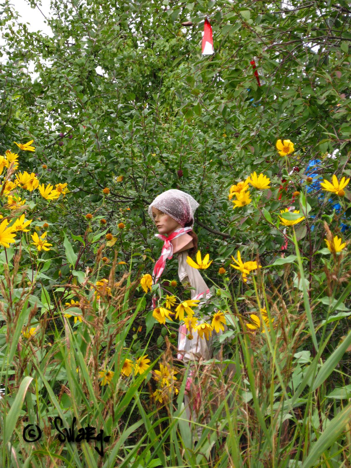 Баба в кустах фото 274-467