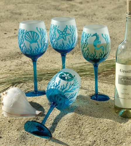78+ Images About Wine Glasses On Pinterest | Cork Holder, Painted
