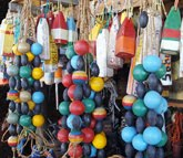 Painted Line Floats and buoys