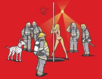 apagando fogo