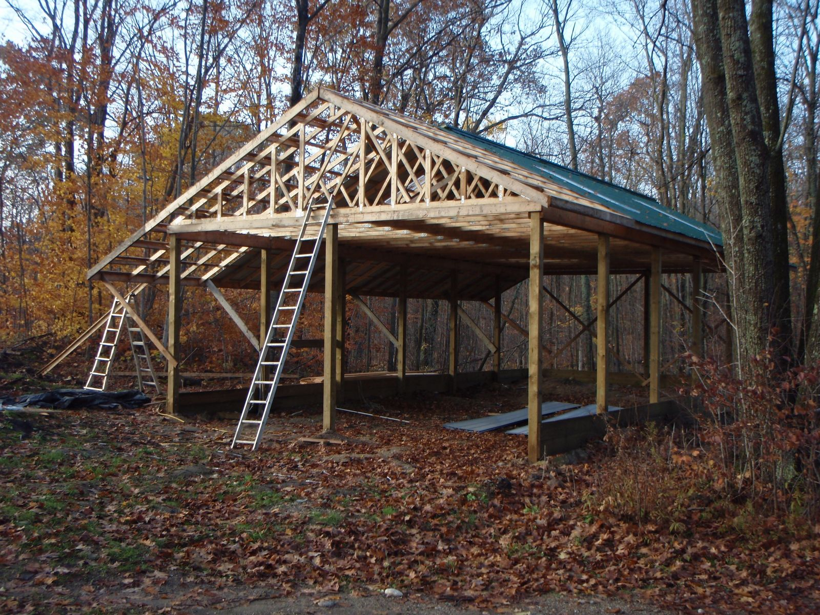 How to build a pole barn garage step by step joy studio for How to build pole barn house