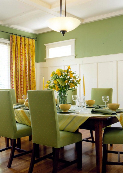Decorica dining dynamics - Pale green dining room ...