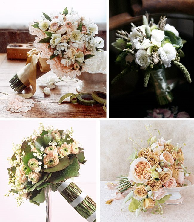 Romantic Vintage Bouquets wedding flower arrangement ideas
