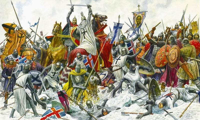 Александр невский щит и меч в руках
