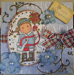MAGNOLIA TILDA, CHRISTMAS CARD TOPPER